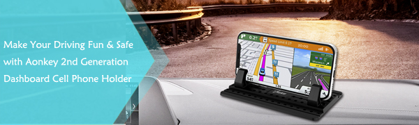 make your driving fun and safe with aonkey 2nd generation dashboard cell phone holder