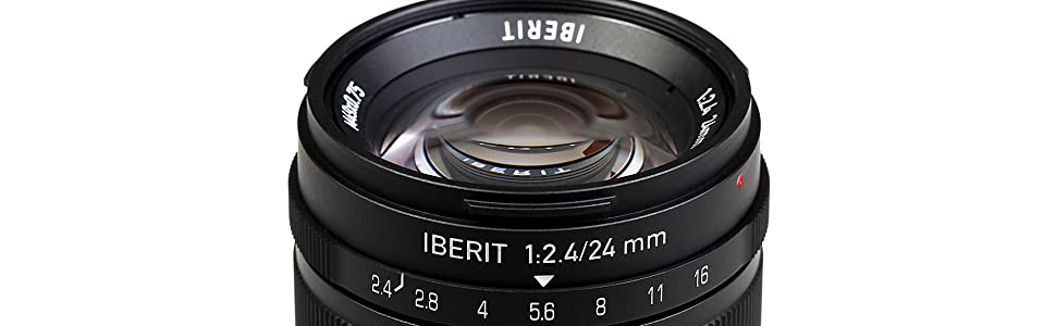 KIPON IBERIT 24mm F2.4 Full Frame Lenses for Sony E Mount Mirrorless Camera (Black)