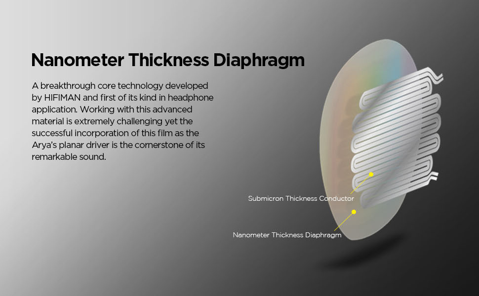 ARYA Nanometer Thickness Diaphragm