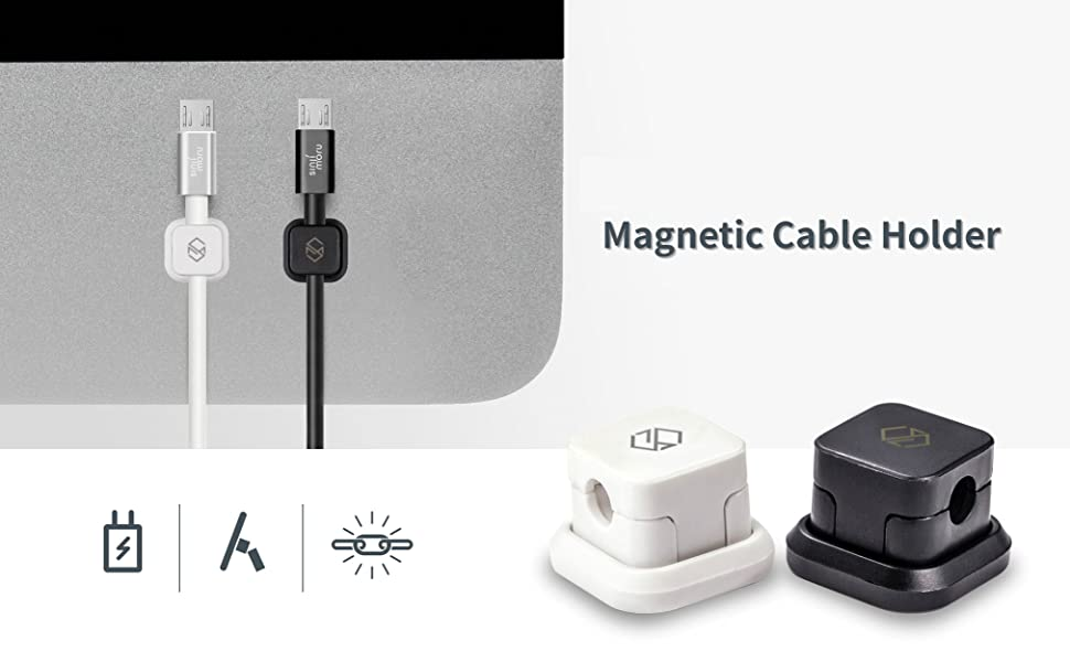 Amazon.com: SINJIMORU Magnetic Cable Clips, Multipurpose Cable ...