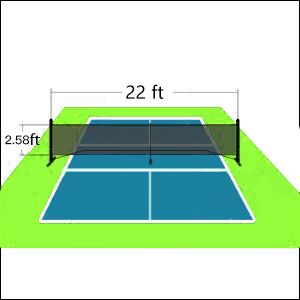 tennis pickle ball mini small indoor practice frame court family equipment travel driveway backyard