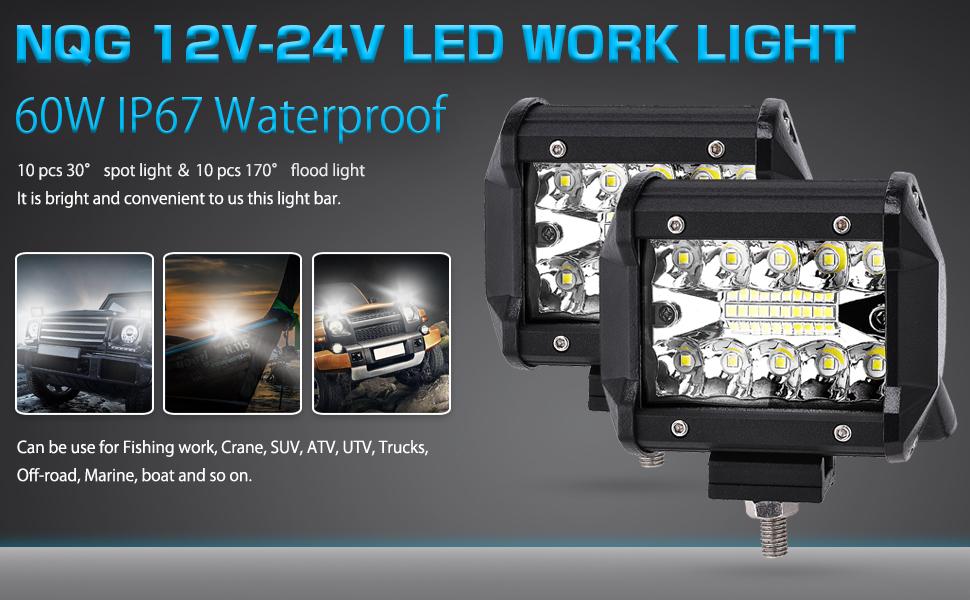 Wiring 4 Pods For Atv Ute Driving 32inch 420w Led Light Bar Spot Flood Combo