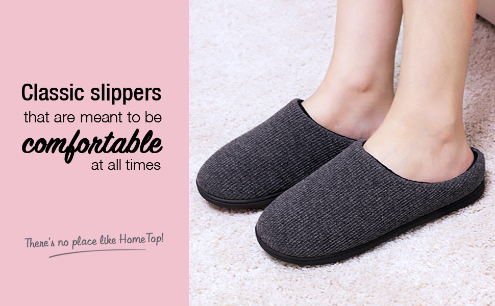 Womens Comfort Memory Foam Cable Knit Slippers Terry Cloth House Slippers