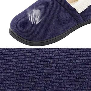 d98916e1c2 Mens Comfy Fuzzy Knit Cotton Memory Foam Slippers