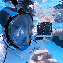 snorkel mask with Camera mount