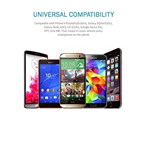 UNIVERSAL AIR VENT SMARTPHONE COMPATIBILITY: Universal adjust ability that will securely fit any phone, tablet or GPS. As well as these popular models: ...