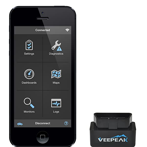 Veepeak Mini WiFi OBD2 Scanner for iOS and Android, Car OBD