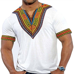 YUNY Mens Regular Fit Dashiki African Long-Sleeve Jersey Shirt Yellow XS