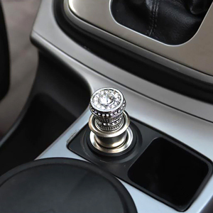car luxury accessories  Amazon.com: Bling Car Decor Crystal Car Cigarette Lighter 12V, Car ...
