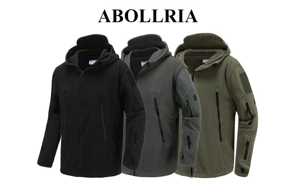 813789793 Abollria Men's Warm Military Tactical Sport Fleece Hoodie Jacket Fall Winter  Soft Polar Fleece Coat Jacket