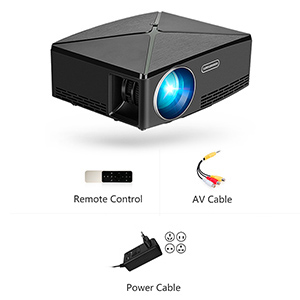 AUN Portable Projector C80, 1280x720 Resolution, High Brightness LED HD Video Projector for Home Cinema, Support 1080P, HDMI, USB, AV, VGA Port