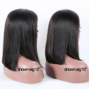 "Length Contrast This wig has 3 length(10"", 12"", 14"") for choosing, it can meet the needs of different customers."