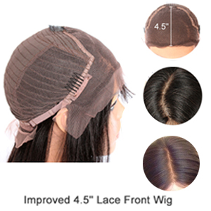 Unlimited Parting Options Improved lace front wig: 4.5