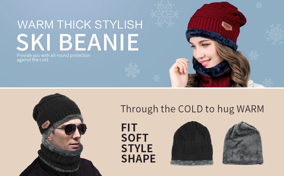 559f1ffe One purchase to meet the hat and scarf. Providing warmth of the head and  neck all the time, when you are in the cold. Of course, when you want to  separate ...