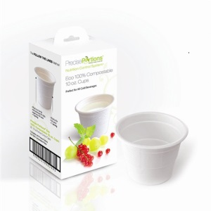 portion control cups, disposable cups