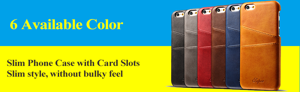 iphone 6s plus slim phone case with card slots holder