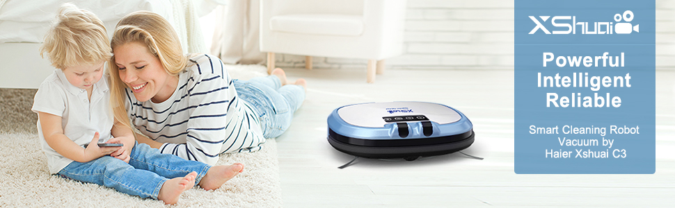 Introducing Haier Xshuai C3 Robot Vacuum, your ultimate home cleaning helper that also works with Alexa. It has 5 amazing cleaning modes, smart enough ...