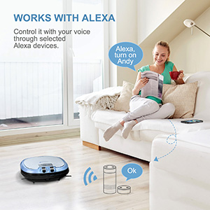 Command your C3 Robot Vacuum to work or stop working with Alexa&Siri voice control.