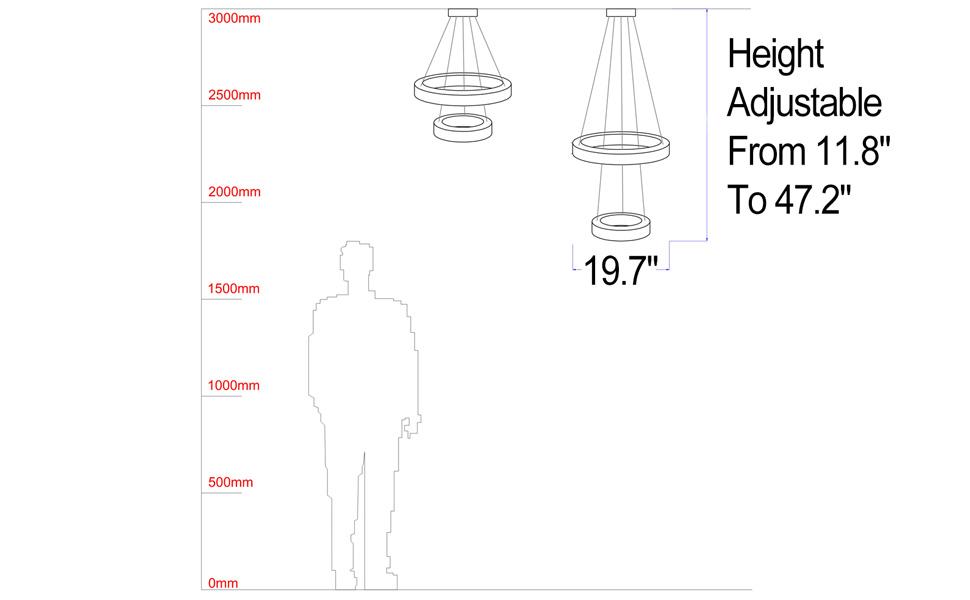 chandelier size chart