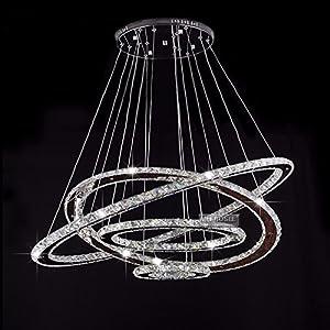 MEEROSEE Crystal Chandeliers Modern LED Ceiling Lights Fixtures ...