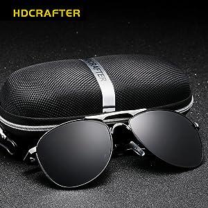 Amazon.com: HDCRAFTER Polarized Aviators Metal Frame