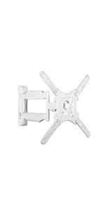 M4 white tv mount