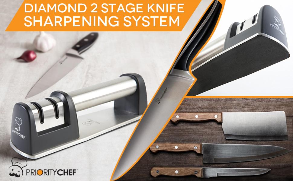 Amazon.com: PriorityChef afilador de cuchillos rectos y ...