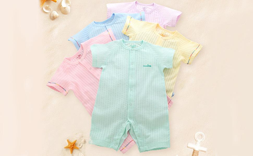 Amazon.com: Bebé niño ropa niña Pelele Verano Manga Corta ...