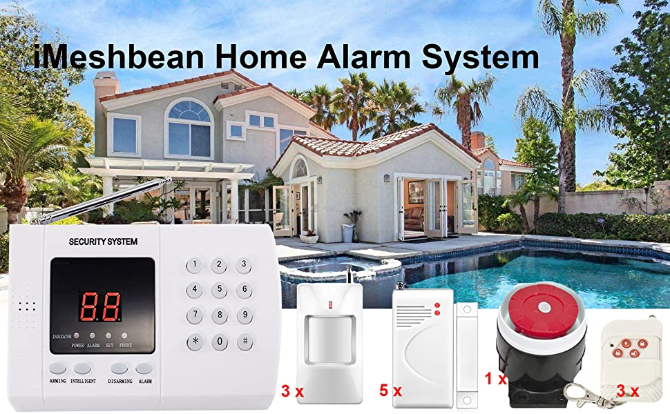 Amazon.com: iMeshbean Wireless PIR Home Security Burglar ...
