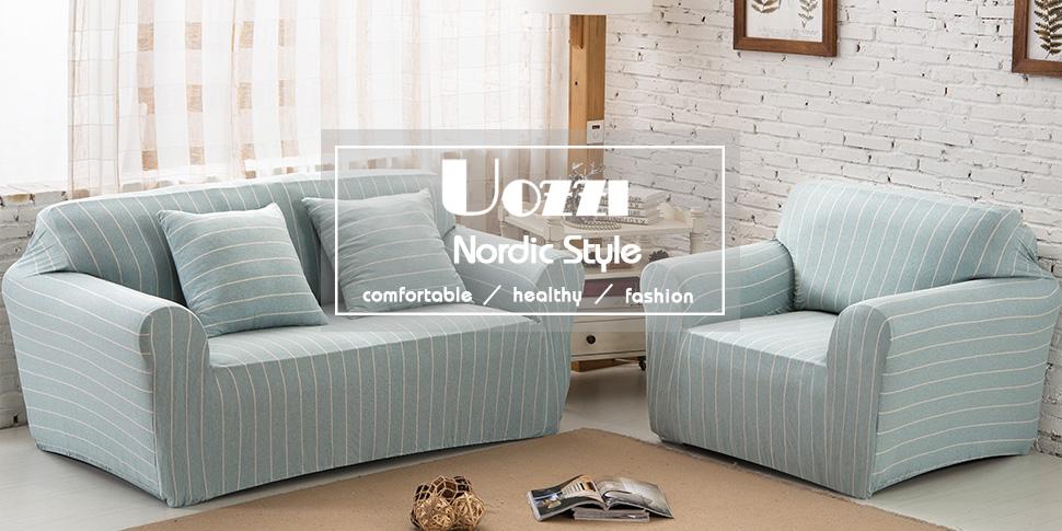 Amazoncom Uozzi Cotton Stretch Sofa SlipcoverWith 2 Green pillow