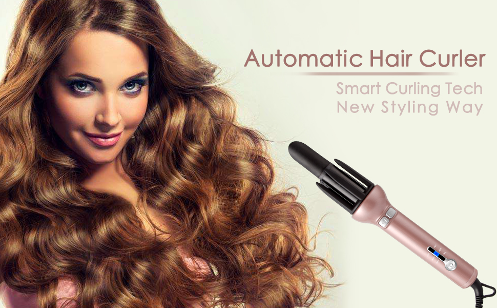 auto hair curler. automatic hair curling iron