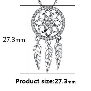 JewelryPalace Bohemian Dream Catcher Cubic Zirconia Boho Earrings Pendant 925 Sterling Silver
