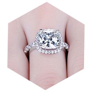 Amazon.com: JewelryPalace - Anillo de compromiso de plata de ...