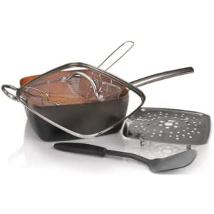 Amazon Com Copper Pan 5 Piece Cookware Set Non Stick