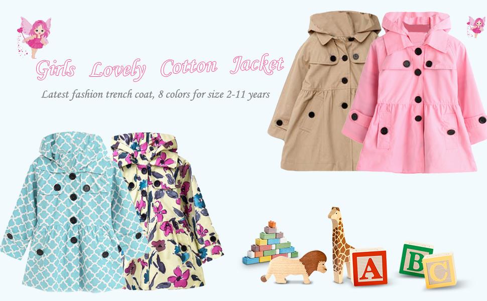 Winter Fall 3-8yr Girls Toddlers Kids Dress Coat Jacket Little Penguin Outerwear