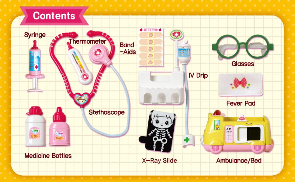 Impressive ToysKongsuni Hospital Play set with X-ray Ambulance