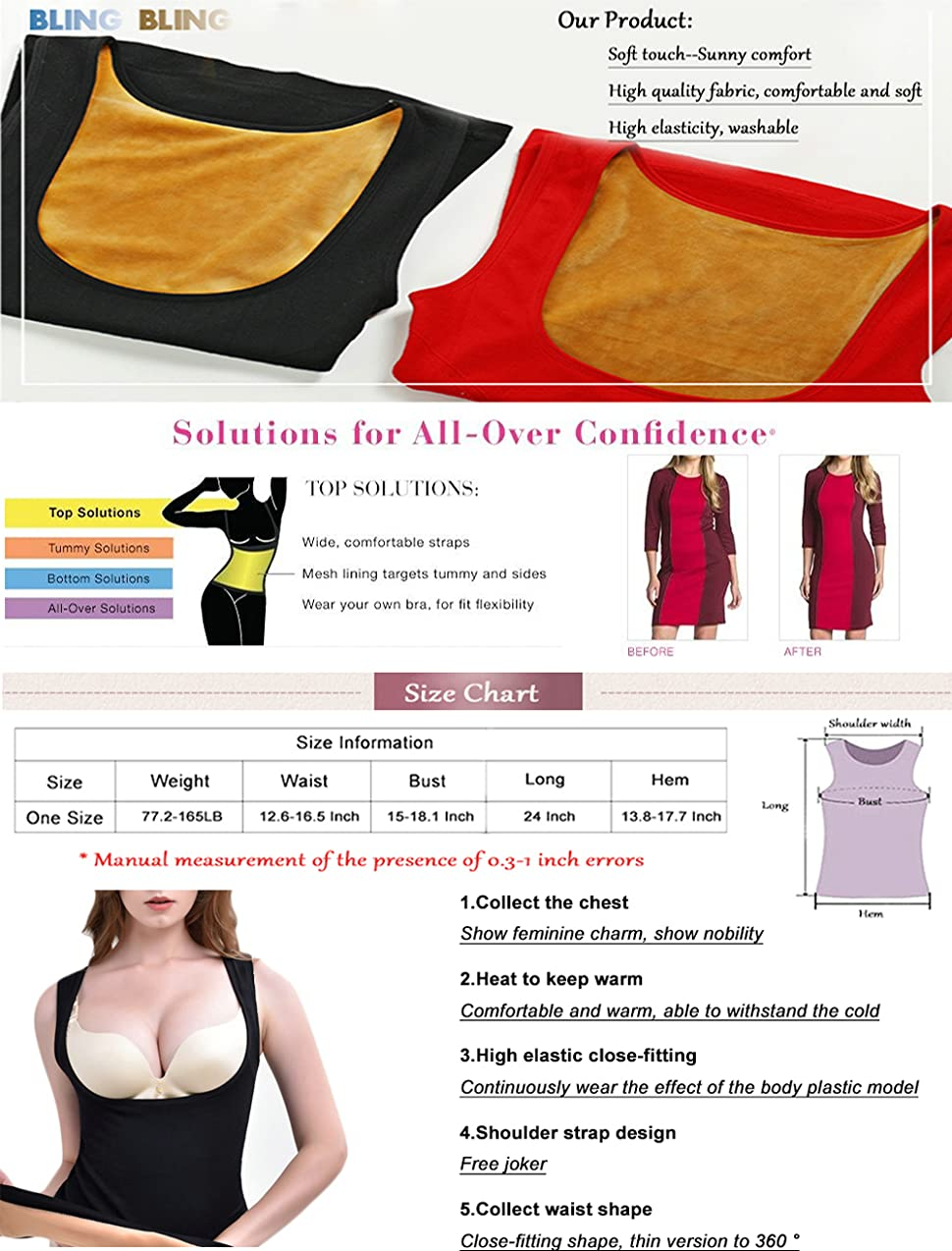 c1d4e922c495e Bling Bling Shapewear Vest Camisole Seamless Comfort Hot Sweat ...
