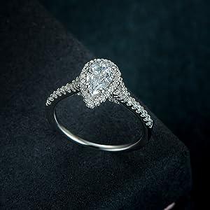 pear engagement ring diamond engagement ring wedding ring wedding band