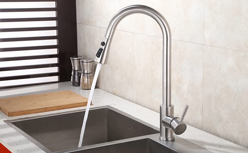 Amazon Com Pull Down Faucet Spray Head Angle Simple Kitchen Sink
