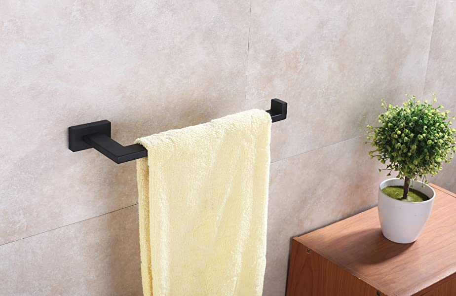 towel bar bathroom diy sus304 stainless steel kitchen towel holder bathroom shower hanger bar rack wall mount matte black holder 118