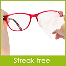 Glass cleaning wipes can be used on all types of lens and glasses