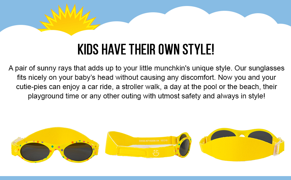 ur toddler sunglasses has adorable design.
