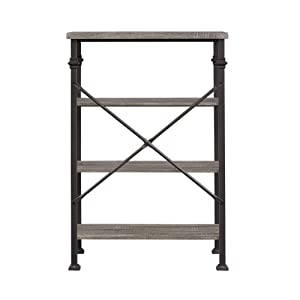 rustic 4-tier bookshelf for living room