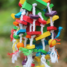 Bird Knots Block Chewing Toys for Large Parrots