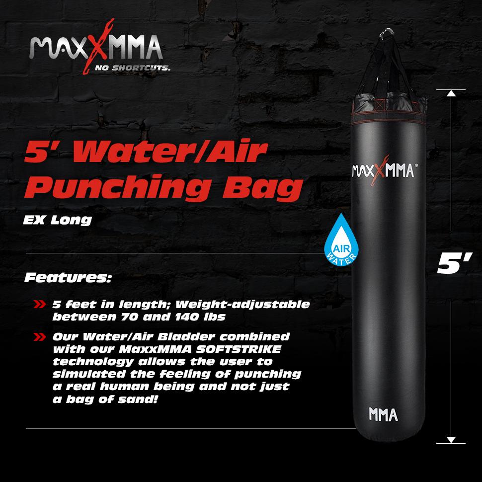 Amazon com : MaxxMMA 5' 70-140 Pound Water/Air Heavy