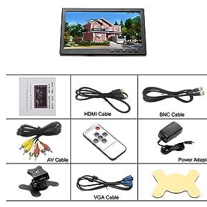 Amazon Com 10 1 Hd Monitor For Mini Tv Amp Car Video