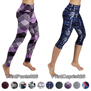 Out Pocket Printed Yoga Pants