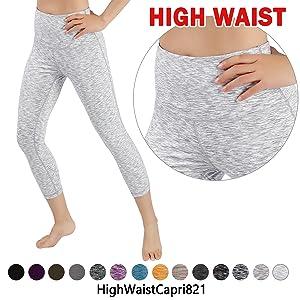 e587c940b005c Amazon.com: ODODOS Power Flex High-Waist Yoga Pants Tummy Workout ...
