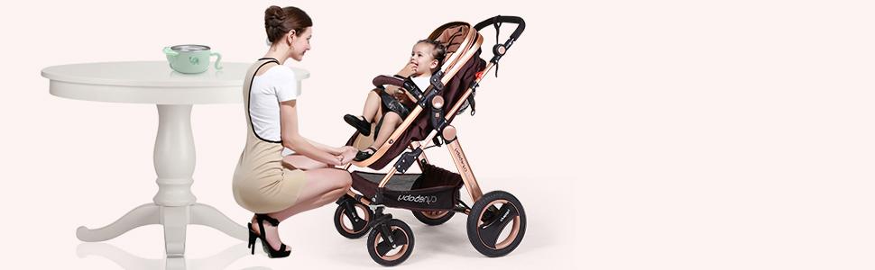 Amazon.com: Cochecito de bebé para recién nacidos y niños ...