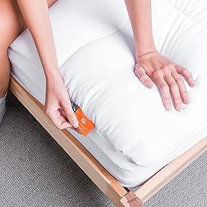 Mattress Topper Hypoallergenic Pad Soft Plush Sleep Down Alternative Box Stitched